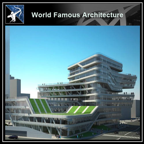 【Famous Architecture Project】Spiral tower, barcelona, by zaha hadid, CAD Drawing-Architectural 3D CAD model - Architecture Autocad Blocks,CAD Details,CAD Drawings,3D Models,PSD,Vector,Sketchup Download