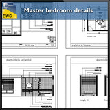 【Interior Design CAD Drawings】@Master Bedroom CAD Details - Architecture Autocad Blocks,CAD Details,CAD Drawings,3D Models,PSD,Vector,Sketchup Download