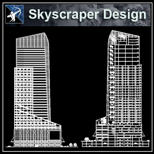 【Architecture CAD Projects】Skyscraper Design CAD Blocks,Plans,Layout