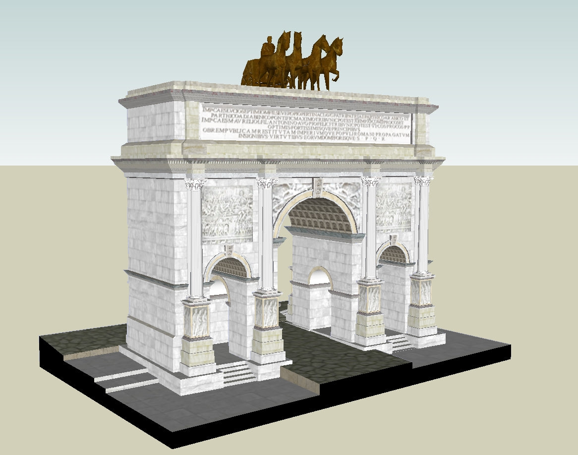 💎【Sketchup Architecture 3D Projects】Ancient roman architecture model- Sketchup 3D Models V1
