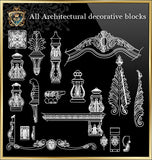 ★Architecture Decorative CAD Blocks Bundle V.4-☆Architectural Decorative Elements☆ - Architecture Autocad Blocks,CAD Details,CAD Drawings,3D Models,PSD,Vector,Sketchup Download