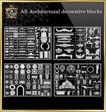 ★Architecture Decorative CAD Blocks Bundle V.1-☆Architectural Decorative Elements☆ - Architecture Autocad Blocks,CAD Details,CAD Drawings,3D Models,PSD,Vector,Sketchup Download