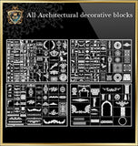 ★Architecture Decorative CAD Blocks Bundle V.2-☆Architectural Decorative Elements☆ - Architecture Autocad Blocks,CAD Details,CAD Drawings,3D Models,PSD,Vector,Sketchup Download