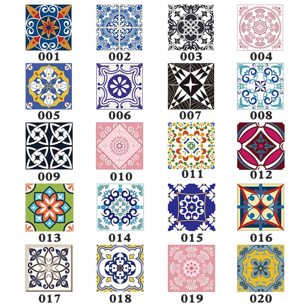 15pcs/set 8/10/12/15cm Floor Tiles Diagonal Wall Stickers Desk Wardrobe Decoration Art Mural Bathroom Waist Line PVC Wall Decals