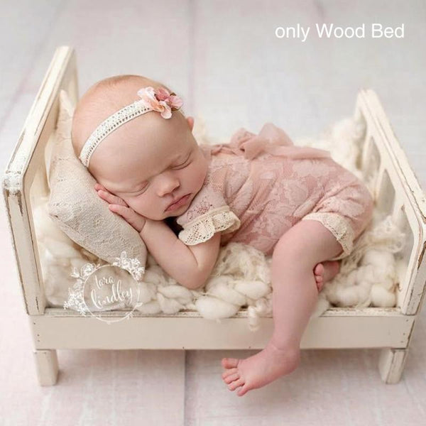 Crib Detachable Basket Wood Bed Photo Shoot Infant Baby Photography Background Studio Props Gift Sofa Posing Newborn
