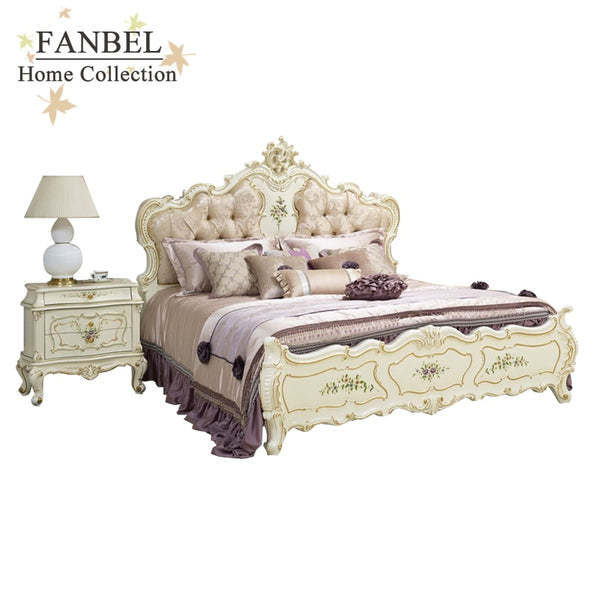 FANBEL furniture bedroom sets 4 pieces 1.8m Bed Night stand Dresser  dressing stool