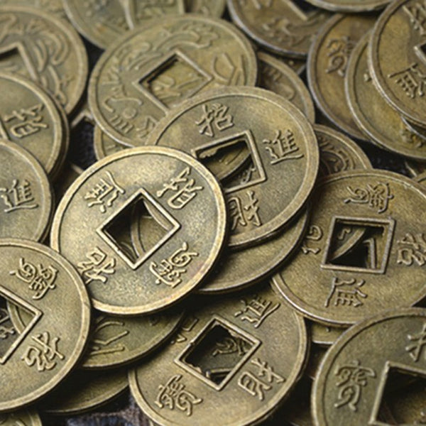1/100Pcs Antique Fortune Money Coin Luck Fortune Wealth Chinese Feng Shui Lucky Ching/Ancient Coins Set Educational Ten Emperors