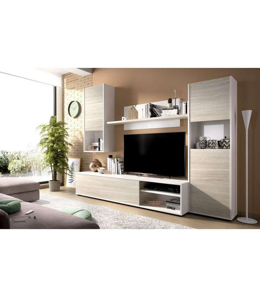 Furniture set modulate salon Luka in white color brightness-Gray
