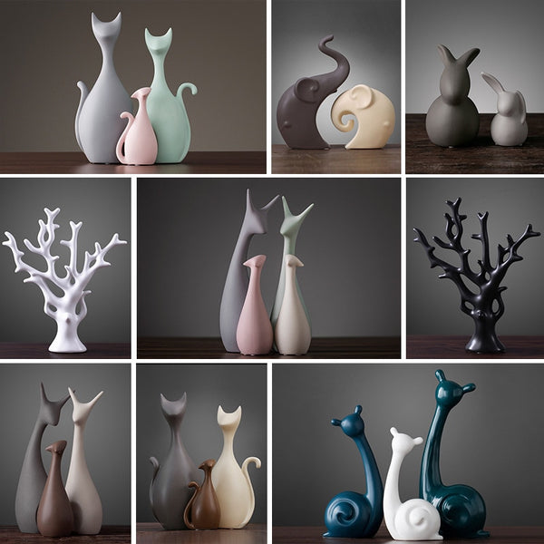 European-style modern ceramic home decoration accessories cute animal living room room office desktop decorations made in China