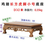 Quality Wood Tea Table Rosewood Carving Decoration Base Vase Buddha Kistler Display Rack Multi-use Rectangle Small Coffee Table