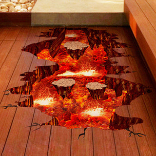 [SHIJUEHEZI] Magma 3D Wall Sticker Home Decor Living Room Bedroom Floor Decoration Removable Vinyl Material Decorative Art - Architecture Autocad Blocks,CAD Details,CAD Drawings,3D Models,PSD,Vector,Sketchup Download
