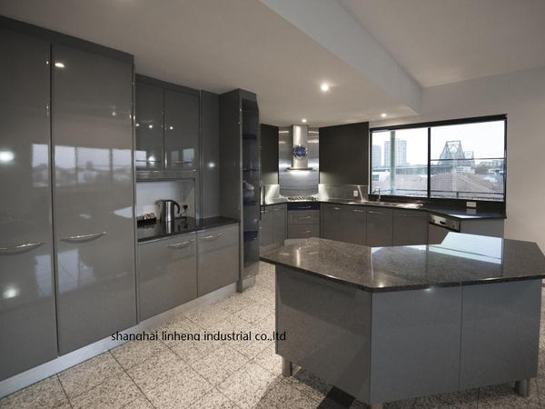 High gloss/lacquer kitchen cabinet mordern(LH-LA102)