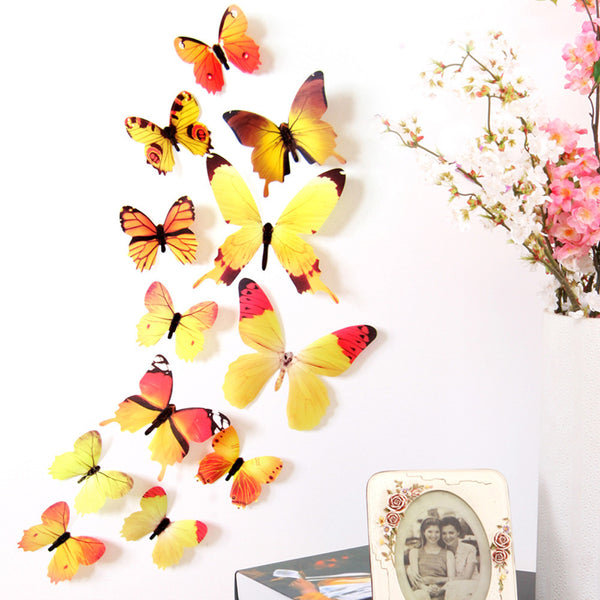 3D DIY Wall Sticker Stickers Butterfly Home Decor Room Decorations New - Architecture Autocad Blocks,CAD Details,CAD Drawings,3D Models,PSD,Vector,Sketchup Download