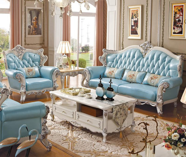 luxury European and American style living room furniture leather quality sofa set - Architecture Autocad Blocks,CAD Details,CAD Drawings,3D Models,PSD,Vector,Sketchup Download