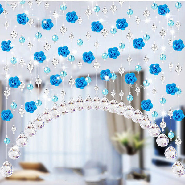Crystal Glass Rose Bead Curtain Living Room Bedroom Window Door Wedding Decor - Architecture Autocad Blocks,CAD Details,CAD Drawings,3D Models,PSD,Vector,Sketchup Download