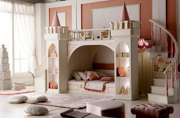 Muebles De Madera Para Quarto Nightstand Luxury Baby Beds Literas Children's Bedroom Furniture Girl Princess Castle Bunk Bed - Architecture Autocad Blocks,CAD Details,CAD Drawings,3D Models,PSD,Vector,Sketchup Download