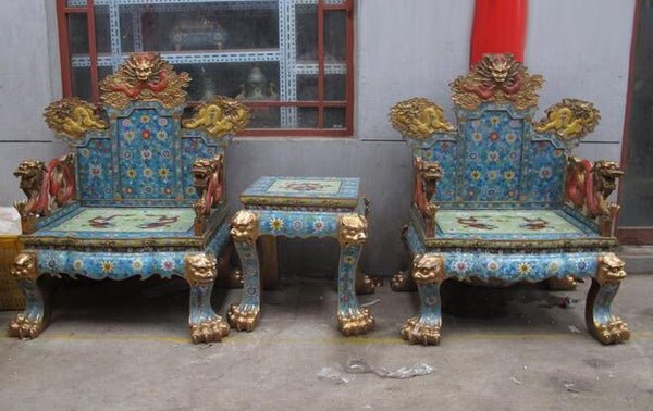 China Royal 100% Pure Bronze cloisonne Huge-Dragon Palace table chair Throne set - Architecture Autocad Blocks,CAD Details,CAD Drawings,3D Models,PSD,Vector,Sketchup Download