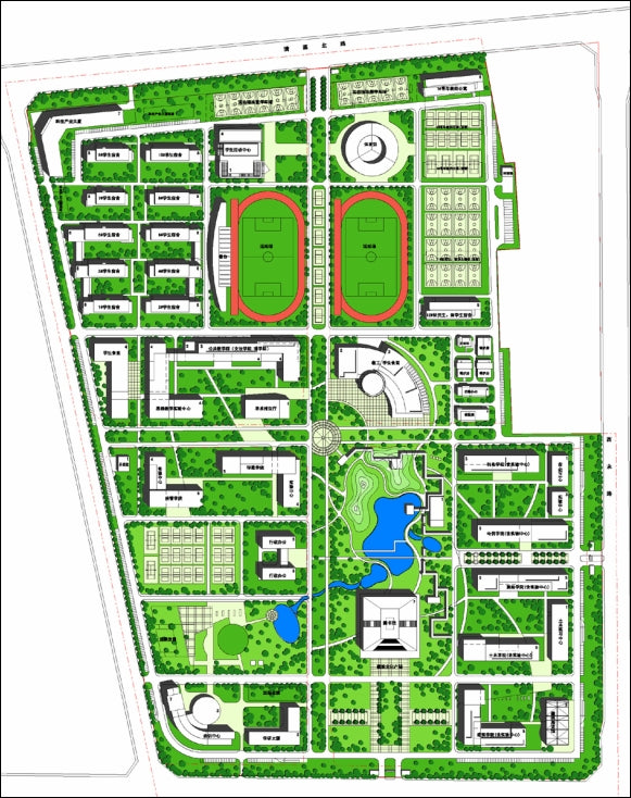 【Architecture CAD Projects】Campus Design CAD Blocks,Plans,Layout