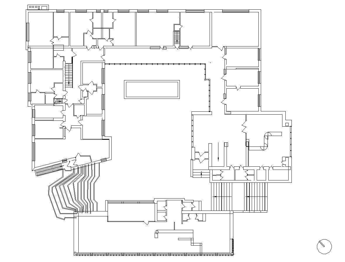 【Famous Architecture Project】Saynatsalo Town Hall-Alvar Aalto-Architectural CAD Drawings