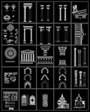 ★Architecture Decorative CAD Blocks V.10-☆Architectural Decorative Elements - Architecture Autocad Blocks,CAD Details,CAD Drawings,3D Models,PSD,Vector,Sketchup Download