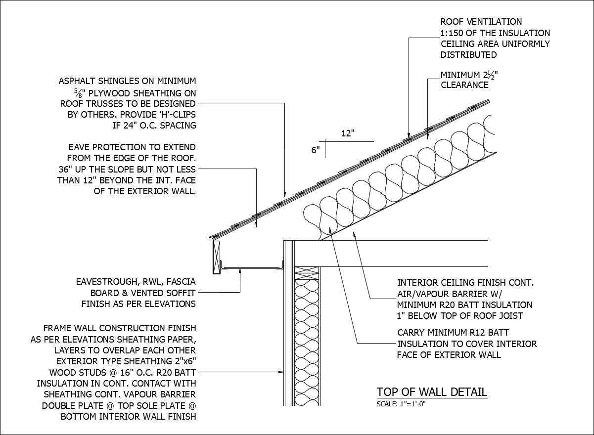 ★free Cad Details Top Of Wall Detail 2