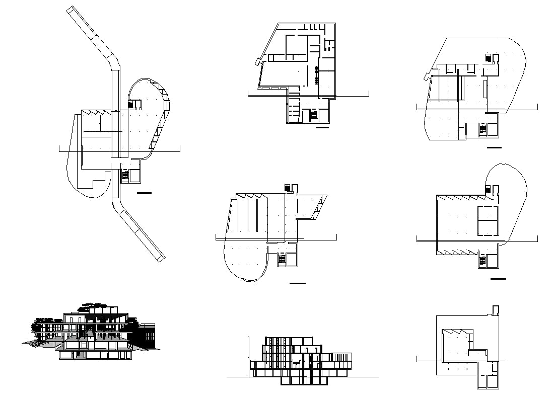 【Famous Architecture Project】Carpenter center of visual arts-Le Corbusier-Architectural CAD Drawings