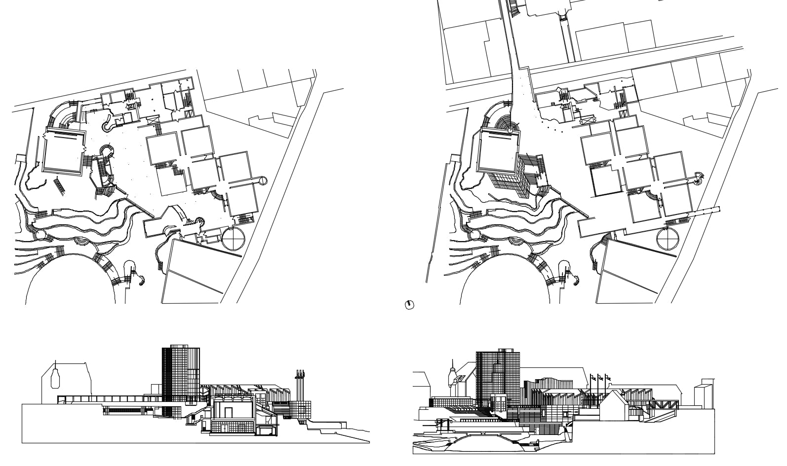 【Famous Architecture Project】Abteiberg Museum-Hans Hollein-Architectural CAD Drawings