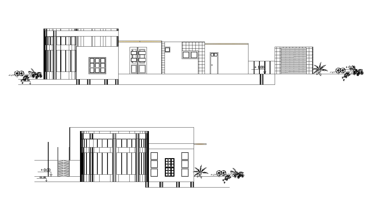 【Famous Architecture Project】Villa inspired from Richard Meier's house-Architectural CAD Drawings
