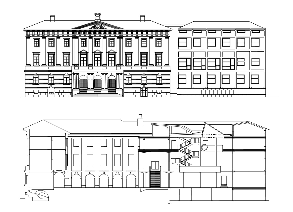 【Famous Architecture Project】Gothenburg city hall-goteborgs radhus-Architectural CAD Drawings