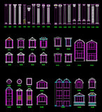 ★Architecture Decorative CAD Blocks V.15-☆Architectural Decorative Door and Windows - Architecture Autocad Blocks,CAD Details,CAD Drawings,3D Models,PSD,Vector,Sketchup Download