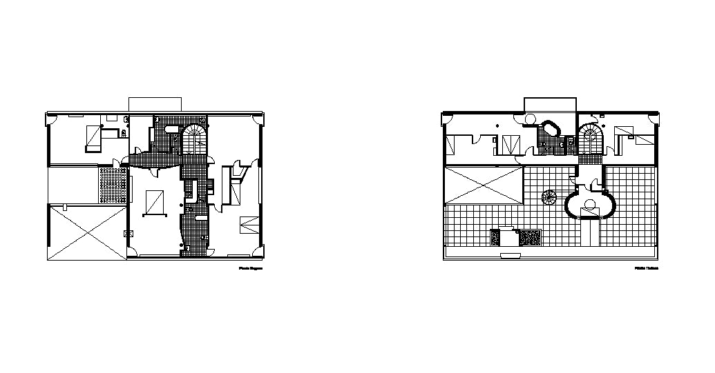【Famous Architecture Project】Le Corbusier Villa Stein-CAD Drawings