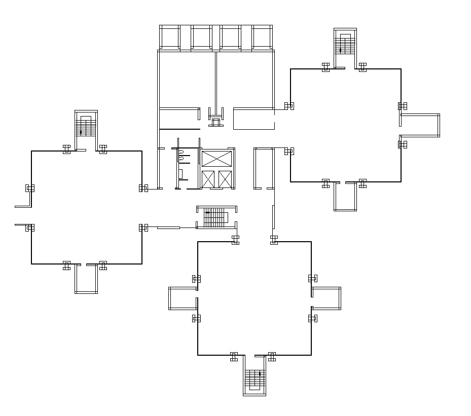 【Famous Architecture Project】Richards Medical Research Laboratories-Louis I. Kahn-Architectural CAD Drawings