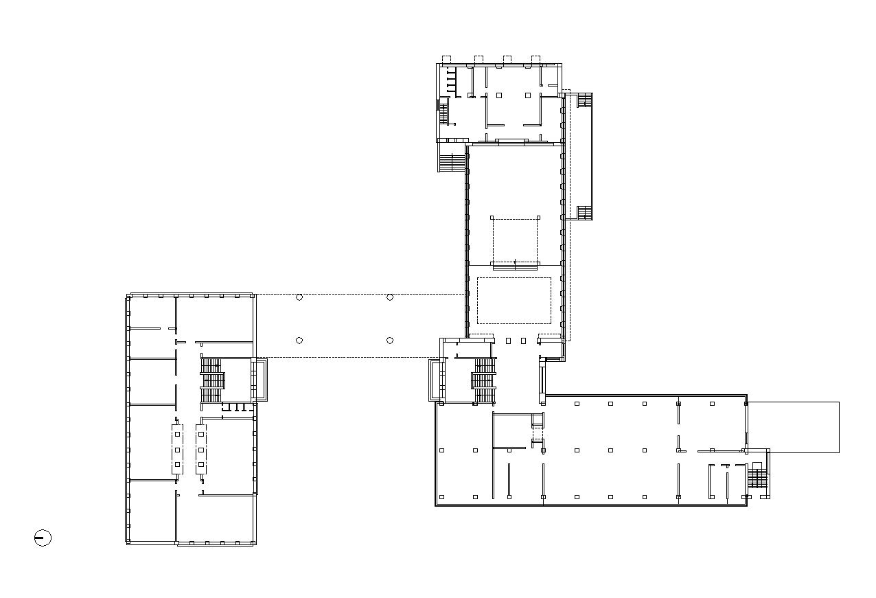 【Famous Architecture Project】The Staatliches Bauhaus (German)-CAD Drawings