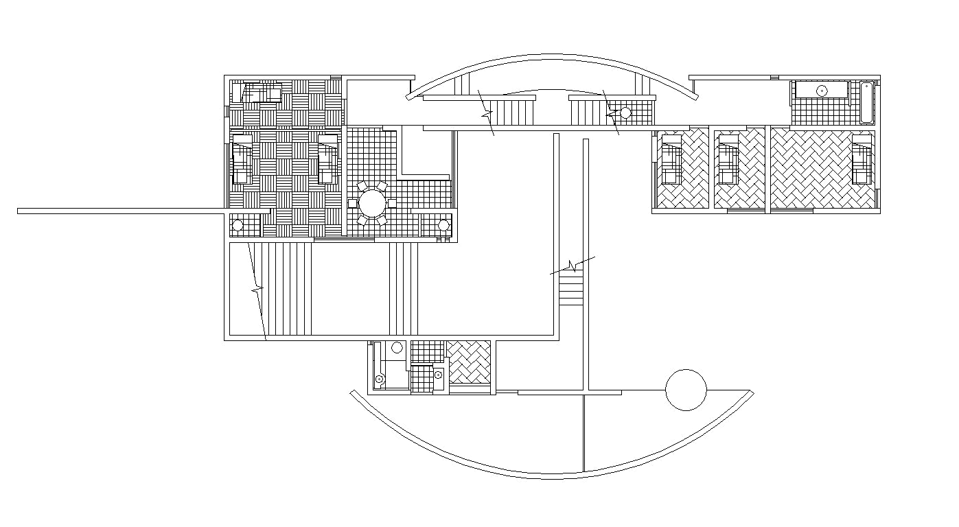 【Famous Architecture Project】TADAO ANDO - Iwasa House-Architectural CAD Drawings