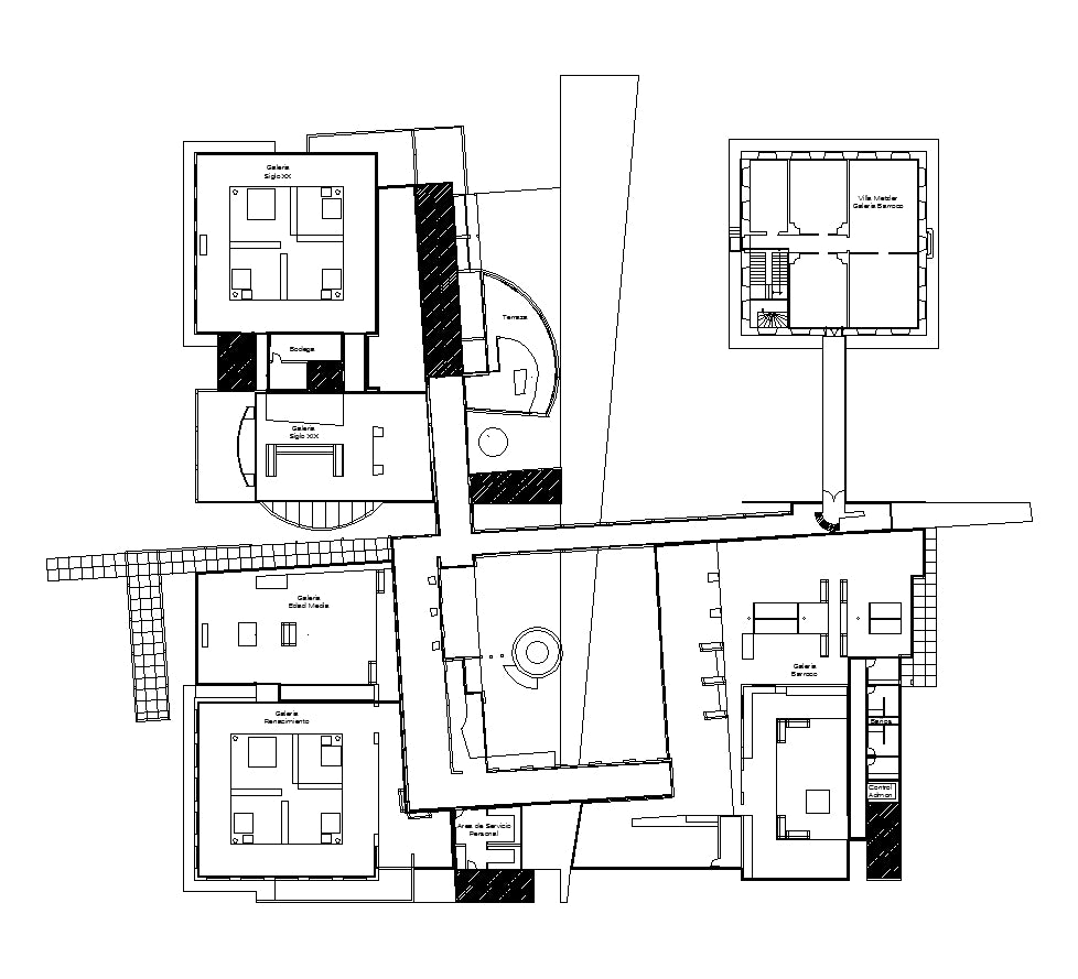 【Famous Architecture Project】Museo frankfurt-CAD Drawings