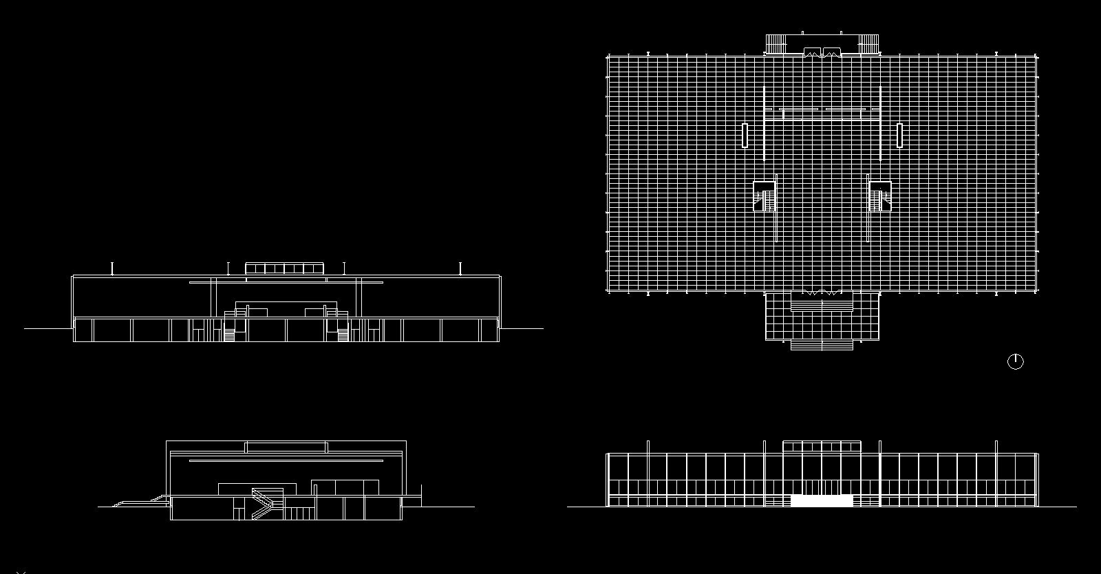 【Famous Architecture Project】Crown Hall- Ludwig Mies van der Rohe-CAD Drawings
