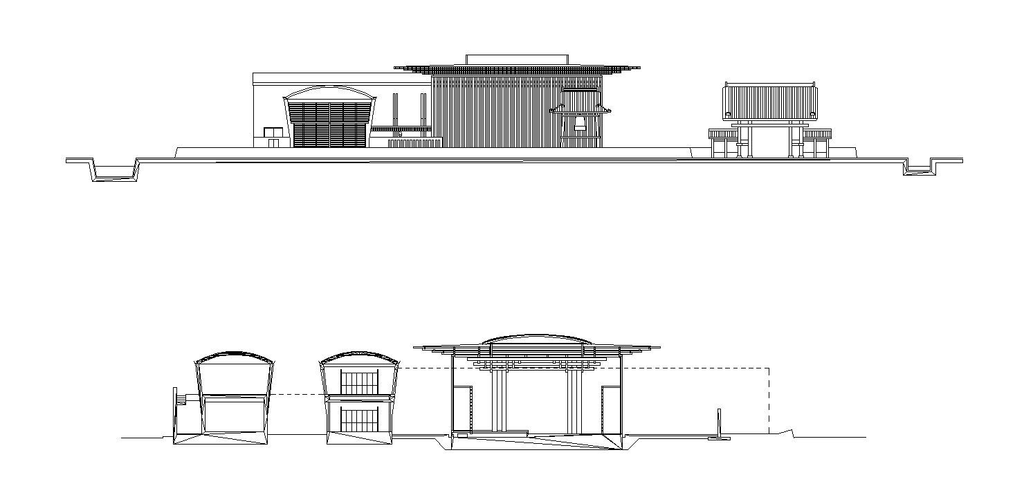 【Famous Architecture Project】Templo Budista- Tadao Ando-Architectural CAD Drawings