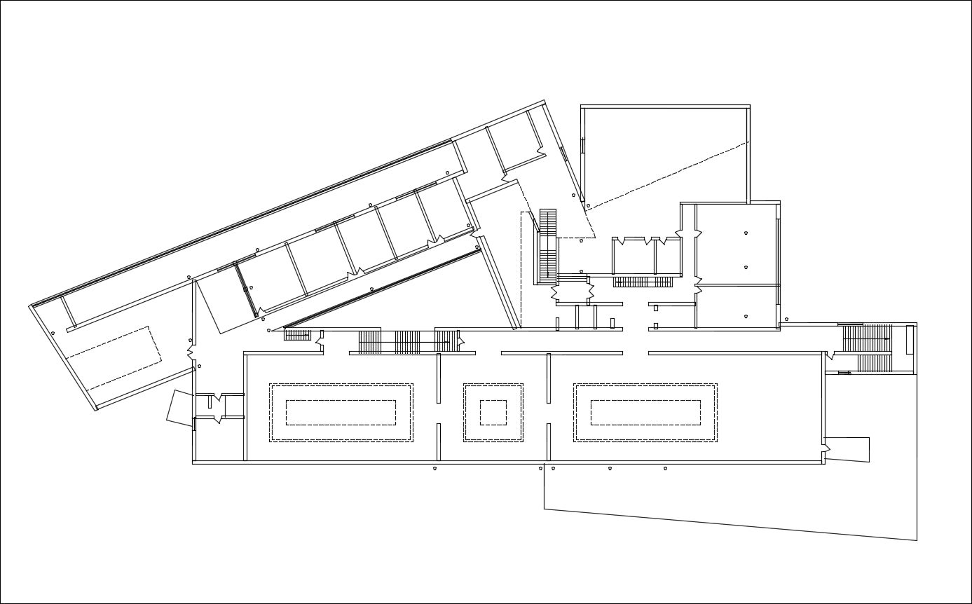 【Famous Architecture Project】Alvaro Siza - Galicia Museum of Contemporary Art-Architectural CAD Drawings