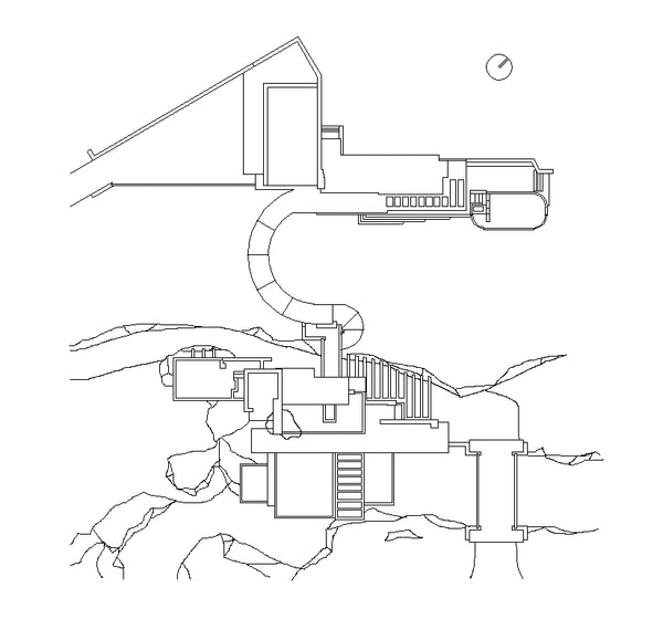 World Famous Architecture Cad Drawingsfallingwater House Frank Lloy