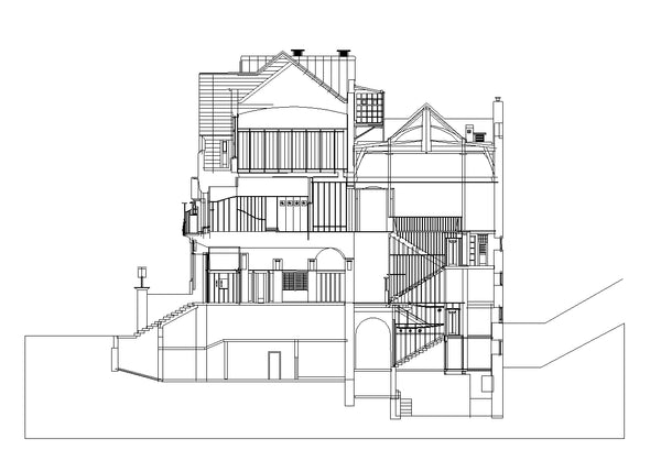 【World Famous Architecture CAD Drawings】Glasgow School of Art