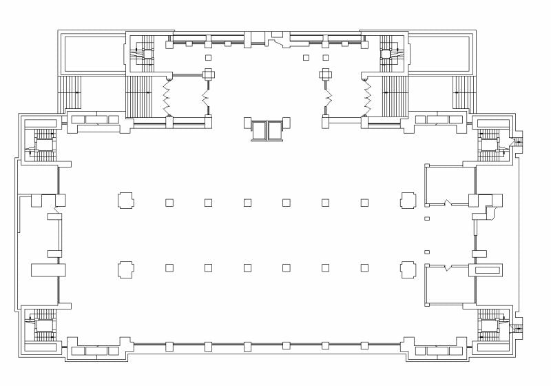 【Famous Architecture Project】Larkin building-in 1903 by Frank Lloyd Wright-CAD Drawings