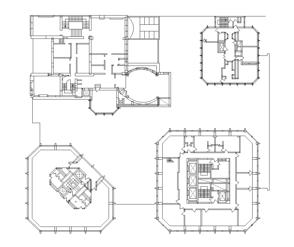 【Famous Architecture Project】The Economist Building-Alison and Peter Smithson-Architectural CAD Drawings