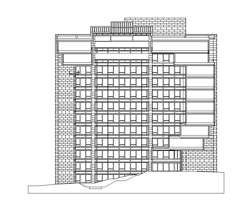 【Famous Architecture Project】The Ford Foundation-Kevin Roche John Dinkeloo and Associates-Architectural CAD Drawings