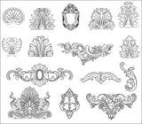 ★Architecture Decorative CAD Blocks Bundle V.10-☆Architectural Decorative Elements☆ - Architecture Autocad Blocks,CAD Details,CAD Drawings,3D Models,PSD,Vector,Sketchup Download
