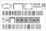 ★Architecture Decorative CAD Blocks Bundle V.13-☆Chinese Carved Elements☆ - Architecture Autocad Blocks,CAD Details,CAD Drawings,3D Models,PSD,Vector,Sketchup Download
