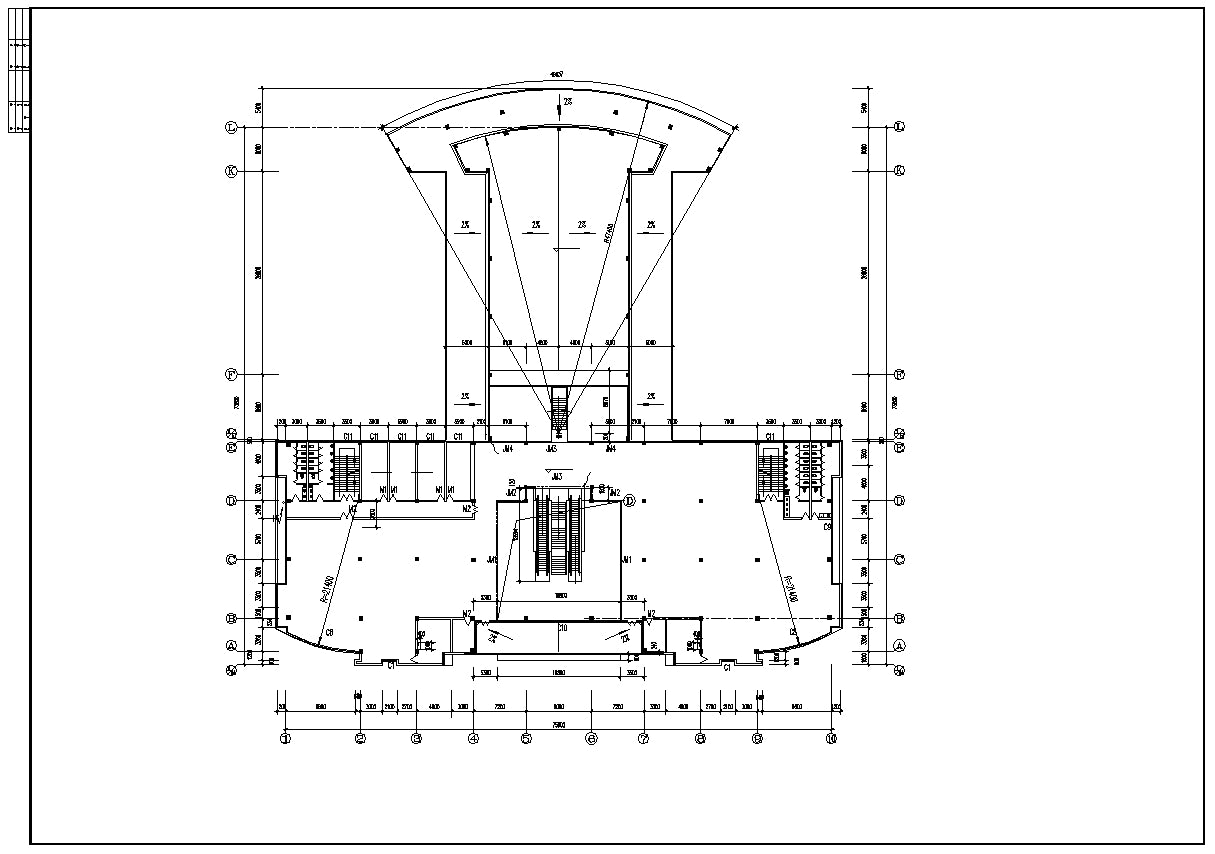 【Architecture CAD Projects】Bus Station Design CAD Blocks,Plans,Layout