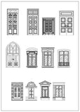 ★Architecture Decorative CAD Blocks V.7-☆Architectural decorative door and windows - Architecture Autocad Blocks,CAD Details,CAD Drawings,3D Models,PSD,Vector,Sketchup Download