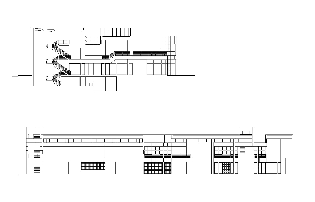 【Famous Architecture Project】Richard Meier - Weishaupt Forum-CAD Drawings