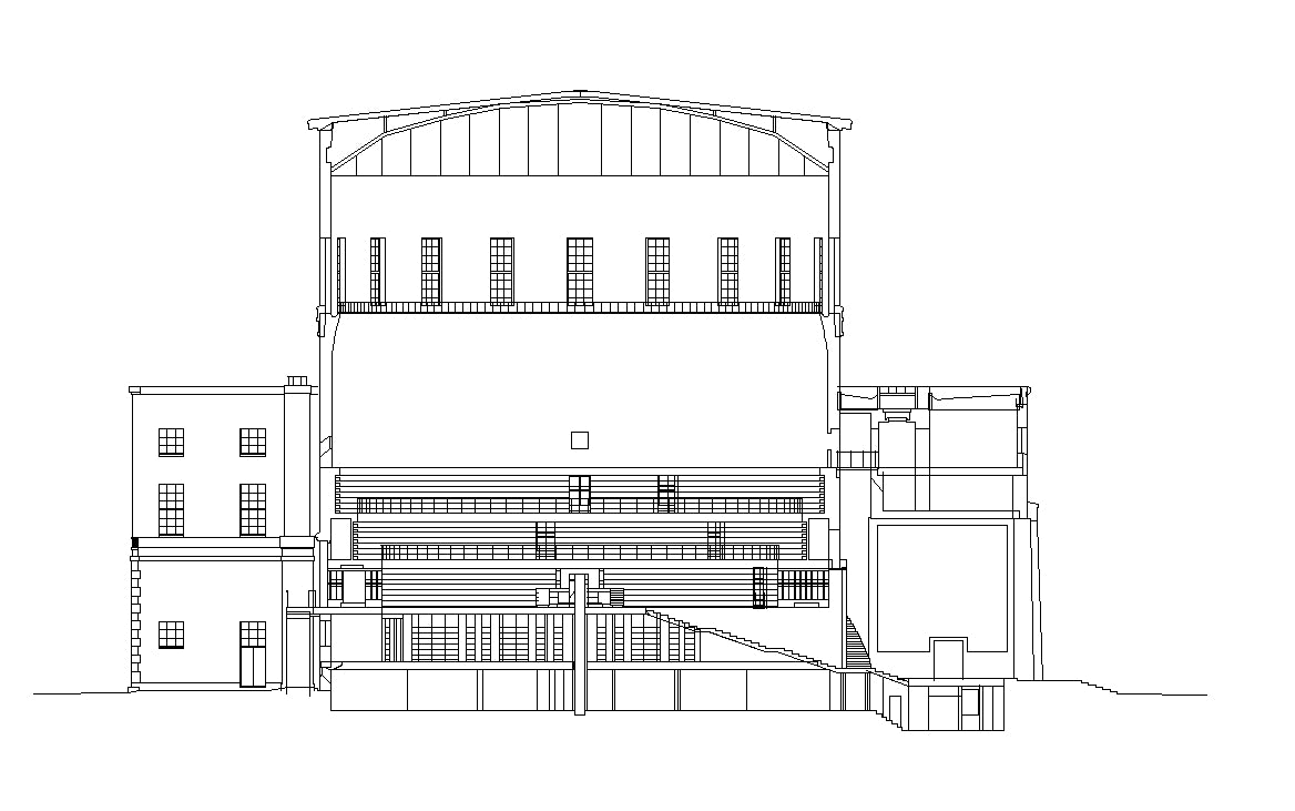 【Famous Architecture Project】Stockholms stadsbibliotek-Gunnar Asplund-Architectural CAD Drawings