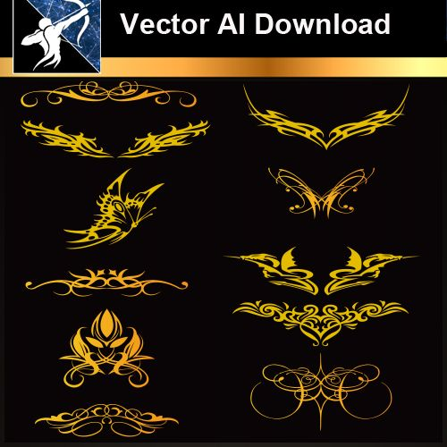 ★Vector Download AI-Tatoo Design Vector V.1 - Architecture Autocad Blocks,CAD Details,CAD Drawings,3D Models,PSD,Vector,Sketchup Download